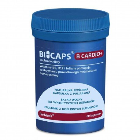 Bicaps B Cardio+ - Witamina B6 (P-5-P), B12, Folian 60 kap.