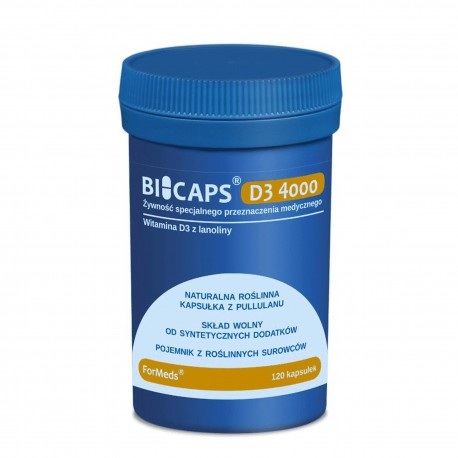 Bicaps D3 4000 - Witamina D3 4000 z lanoliny 120 kap.
