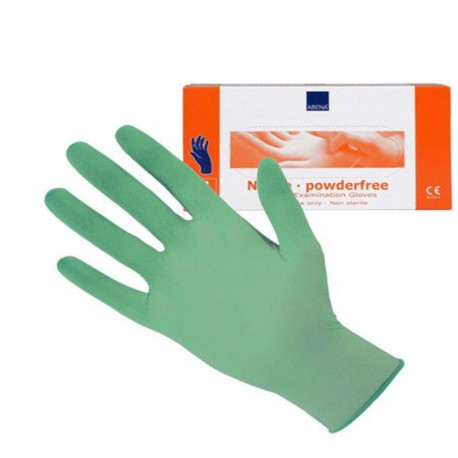 ABENA rękawice nitrylowe zielone, rozmiar M (100szt./op.)