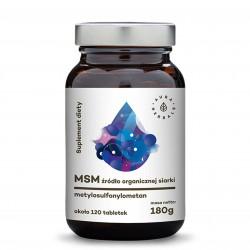 MSM - Organiczny Związek Siarki - tabletki (180g) Aura Herbals