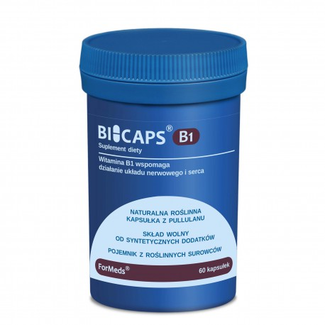 Bicaps B1 - Witamina B1 60 kapsułek ForMeds