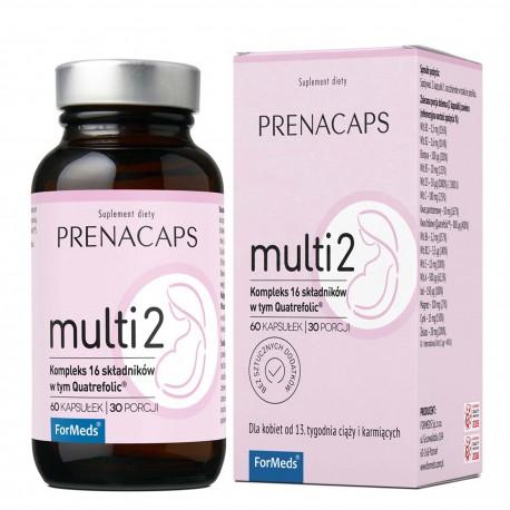 Prenacaps Multi 2 - 16 składników od 13 tygodnia ciąży 60 kaps