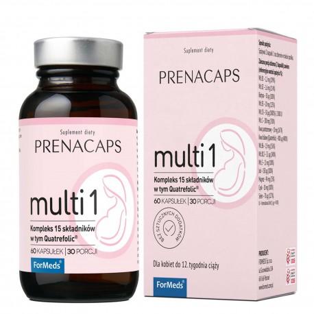 Prenacaps Multi 1 - 15 składników do 12 tygodnia ciąży 60 kaps
