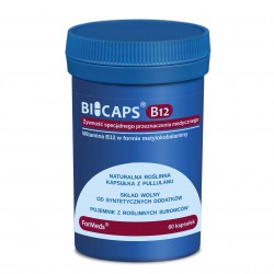 Bicaps B12 - 1000 µg wit. B12 w formie metylokobalaminy 60 kaps