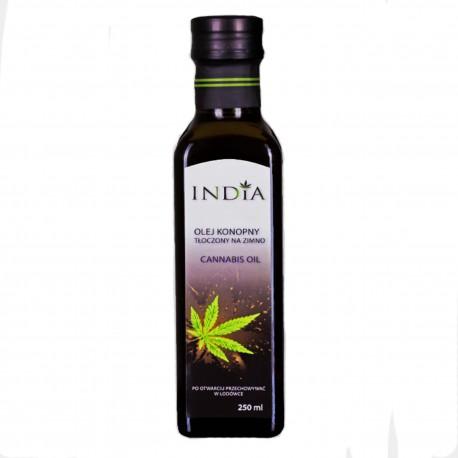Olej konopny tłoczony na zimno nierafinowany 250 ml - India