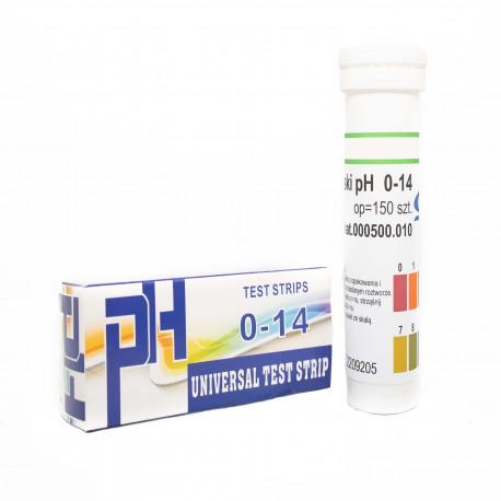 Paski pH w tubie 150 szt. zakres 0-14