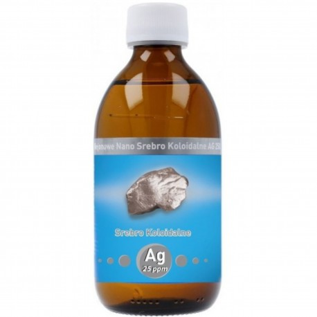Niejonowe Nano Srebro koloidalne AG 25 ppm 300 ml