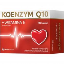 Koenzym Q10 + Witamina E, 120 kaps.