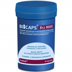 BiCaps Witamina B12 MAX 1000 mcg 60 kapsułek