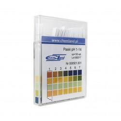 Paski pH - 4 polowe 1-14 100 szt.