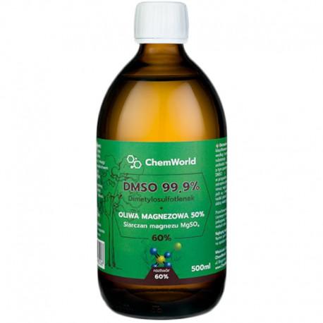 DMSO Dimetylosulfotlenek z Magnezem (siarczan) – Roztwór 60% 500ml