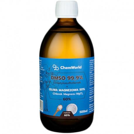 DMSO Dimetylosulfotlenek z Magnezem (chlorek) – Roztwór 60% 500ml