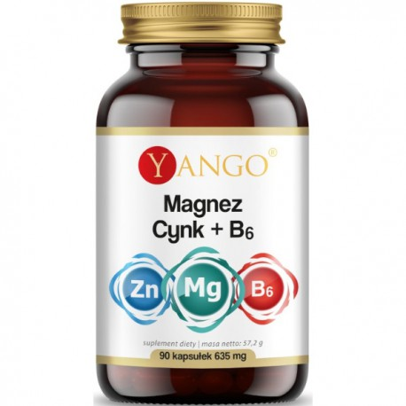 Magnez + Cynk + B6 - 90 kap. Yango
