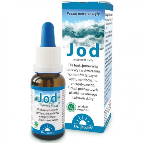 Jod w płynie 150 µg 20ml krople - Dr. Jacobs's