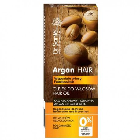 Olejek regenerujący do włosów z olejem arganowym i keratyną