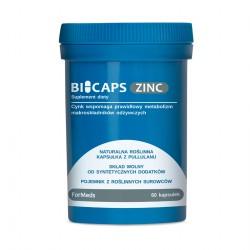 Bicaps Zinc - Cynk 15 mg - Cytrynian Cynku 60 kaps.