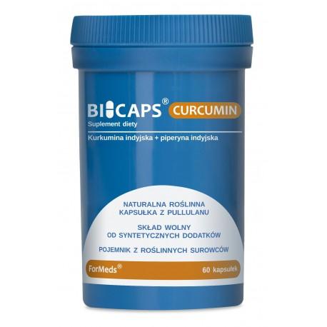Bicaps Curcumin - Kurkumina indyjska + piperyna indyjska 60 kaps