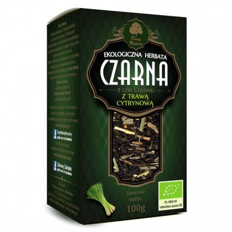 Herbata Czarna z Trawą Cytrynową EKO 100g
