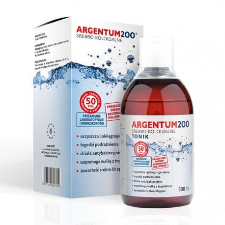 Argentum200 Srebro Koloidalne 50 ppm Tonik 500 ml