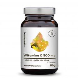 Witamina C 500 mg + Ekstrakt z dzikiej róży 50 mg 90 tabletek