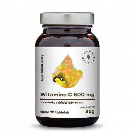 Witamina C 500 mg + Ekstrakt z dzikiej róży 50 mg