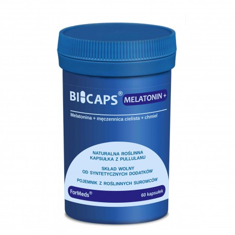 Bicaps Melatonin+ Melatonina 60 kapsułek